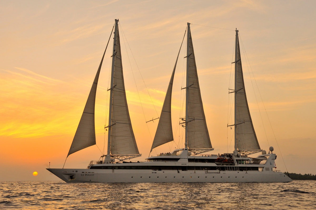 Ponant's first ship - Le Ponant - is very different to the rest of its fleet, but no less luxurious.