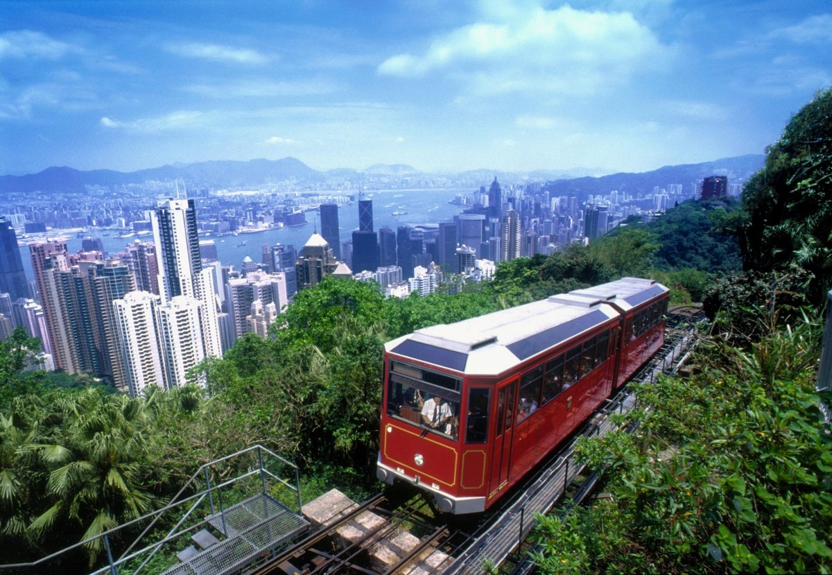 Victoria Peak's famed tram is a 'must do' when in Hong Kong.