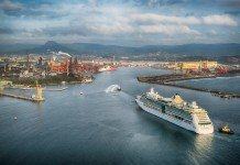 Royal Caribbean Radiance of the Seas cruises into Port Kembla for the first time