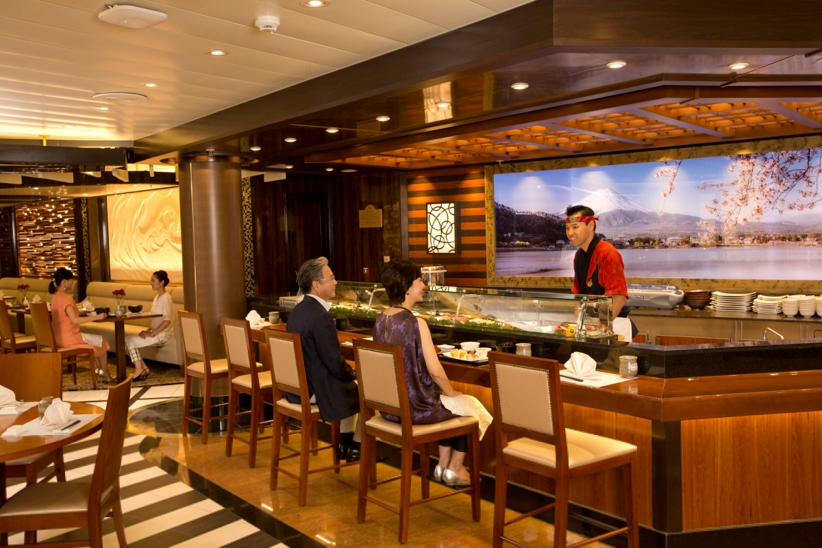 Kai Sushi features an interactive, open air kitchen for guests to view their specialities being created.