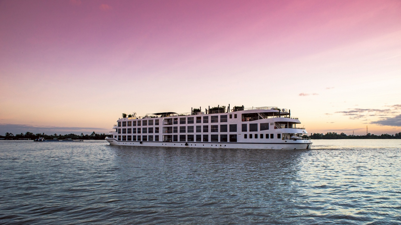 Scenic Spirit was launched earlier this year and sails the Mekong in Vietnam.