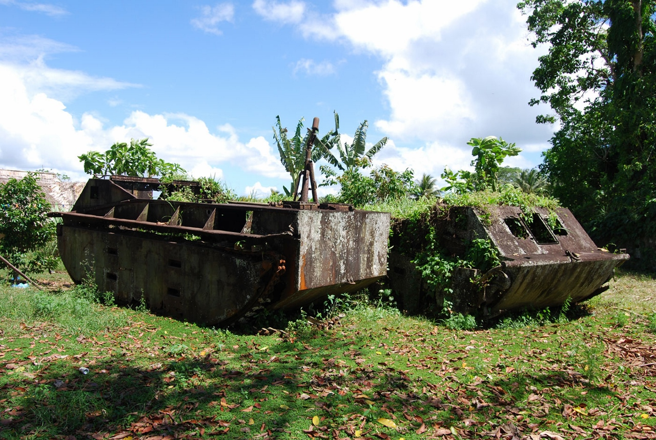 Rusted reminders of more volatile times, the Solomon Islands' Tetere Beach serves up a moment in time to visitors.