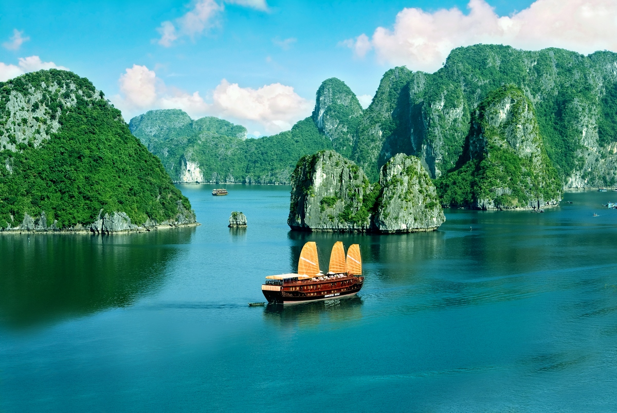 Destinations such as Vietnam's Halong Bay (pictured) are easy to access on cruises from Hong Kong.
