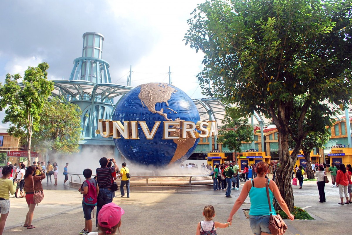 Universal Studios Singapore sits in Sentosa Island a massive tourism district.