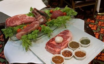 This cart, featuring a variety of cuts of meat for you to choose from, is wheeled to your table after you're seated at Nouveau on Carnival Spirit or Carnival Legend.