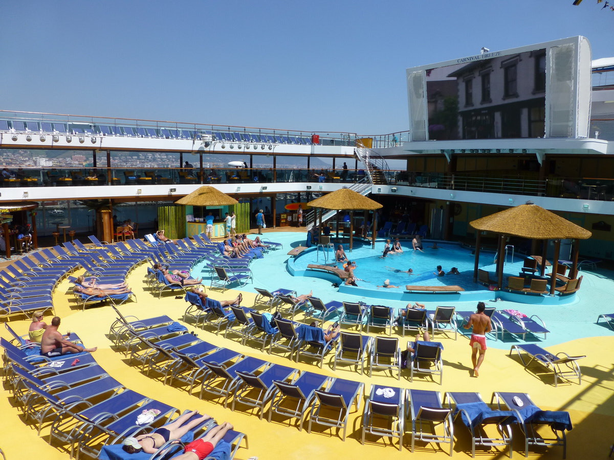 Noise from activities such as poolside movie screens can be an issue in higher decks.