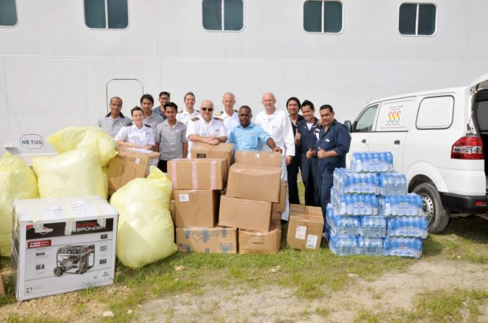 P&O Cruises delivered shiploads of emergency supplies to Fiji and Vanuatu after recent tropical cyclones.