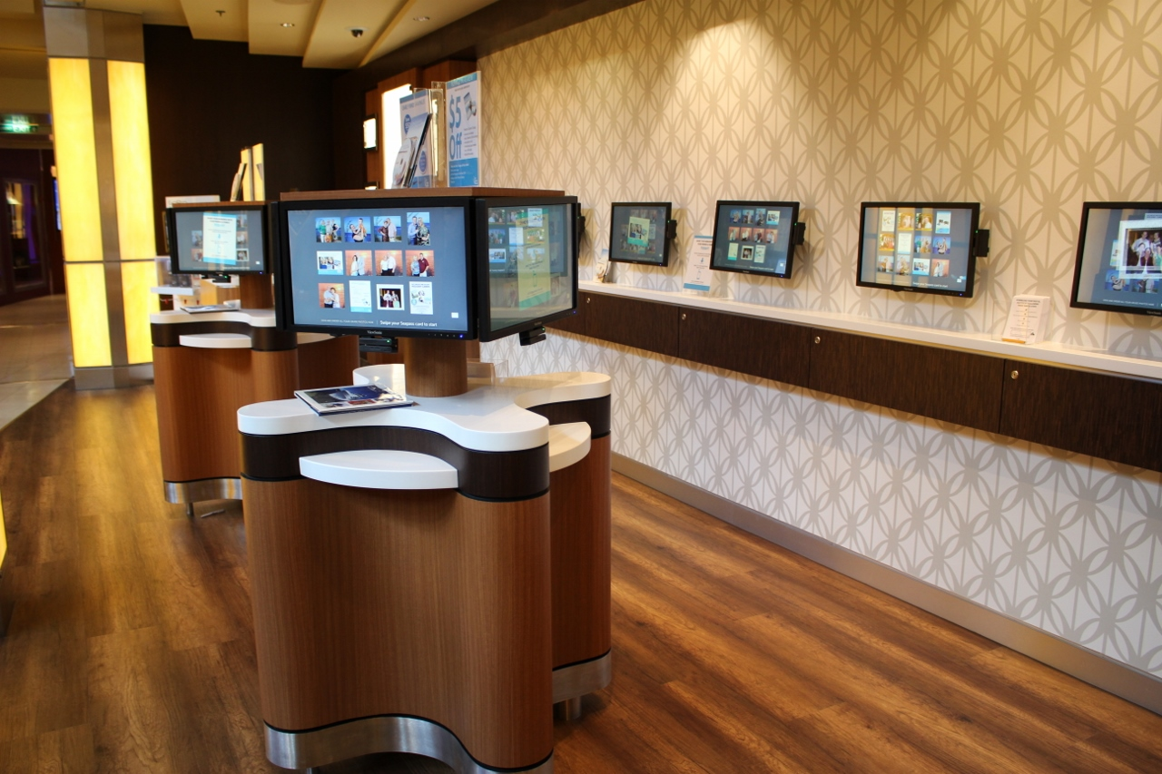 State-of-the-art technology is in place to help guests find and purchase their cruise photos.