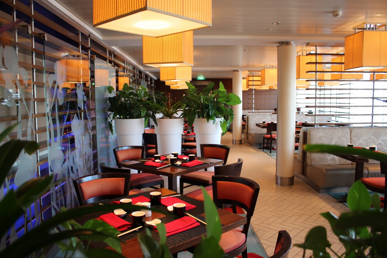Specially crafted Japanese fare can be enjoyed at the new Sushi on Five restaurant on Celebrity Solstice.