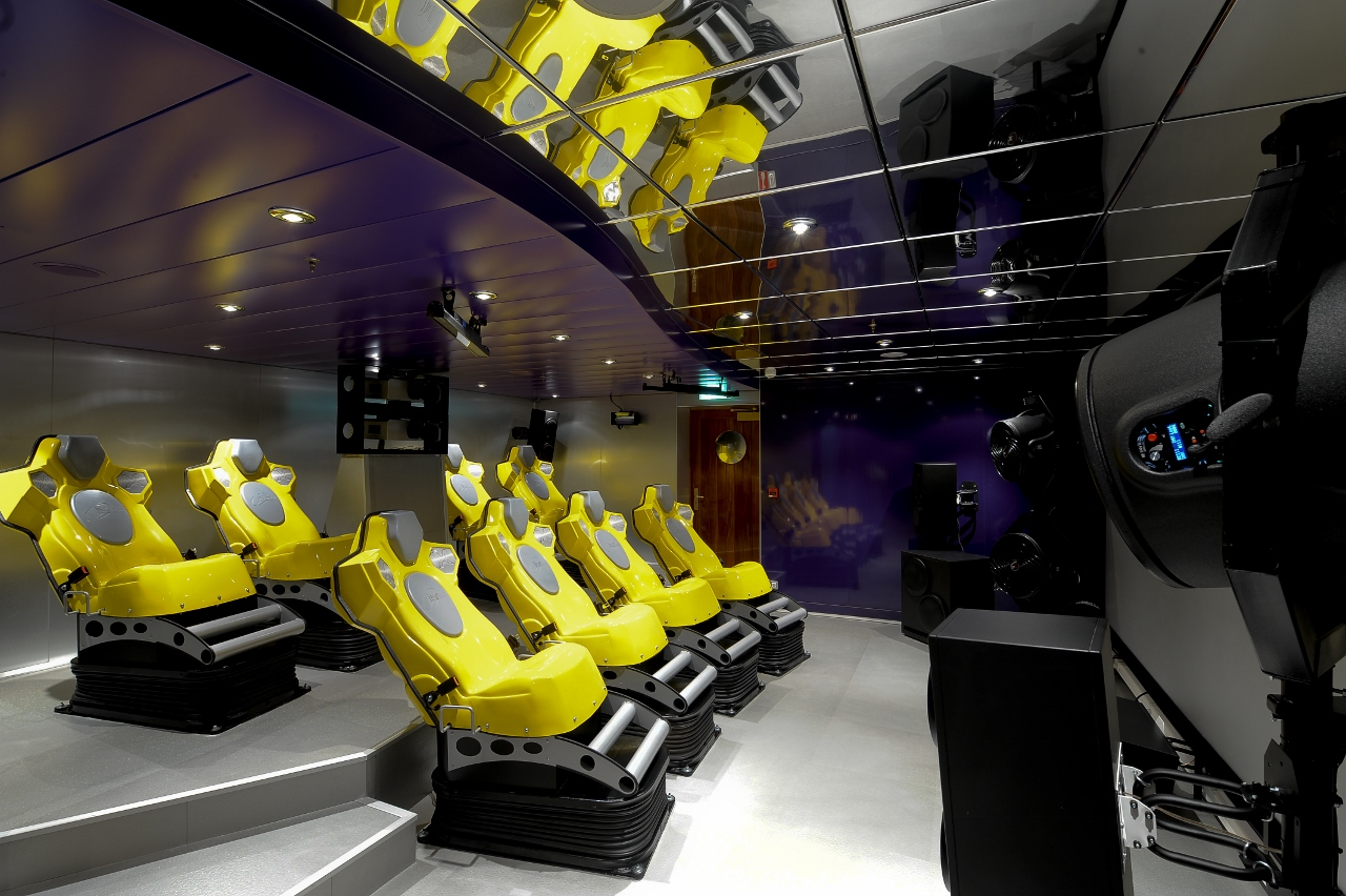 Entertainment is taken very seriously on MSC Cruises, with one option being a 4D cinema.