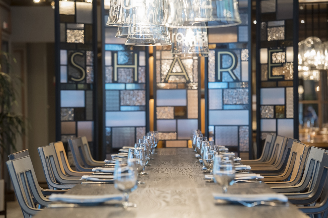 SHARE by Curtis Stone on Emerald Princess is larger with more communal tables for guests to enjoy their plates with great company.