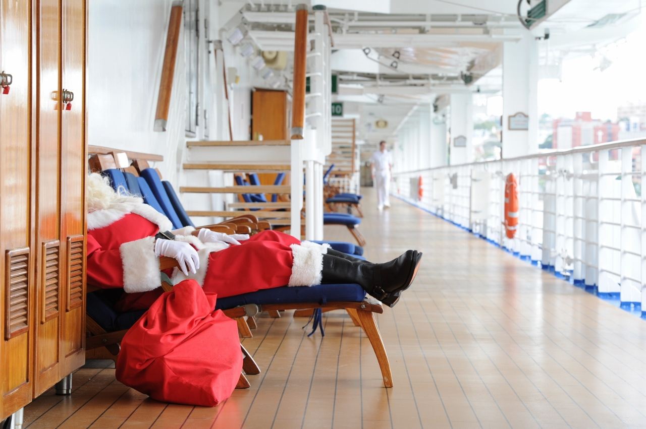 When it's all said and done, Santa loves to jump on a cruise ship and relax as much as anybody.