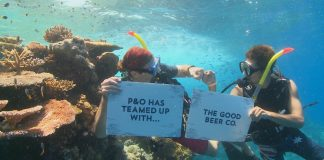 P&O Cruises has joined forces with The Good Beer Co to help raise money for reef conservation.