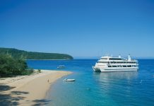 Pelorus Island is one of the many picturesque stops enjoyed during a Great Barrier Reef cruise.
