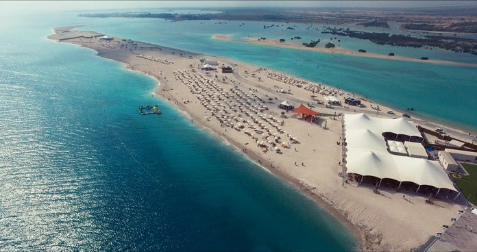A look at Sir Bani Yas Cruise Beach from above.