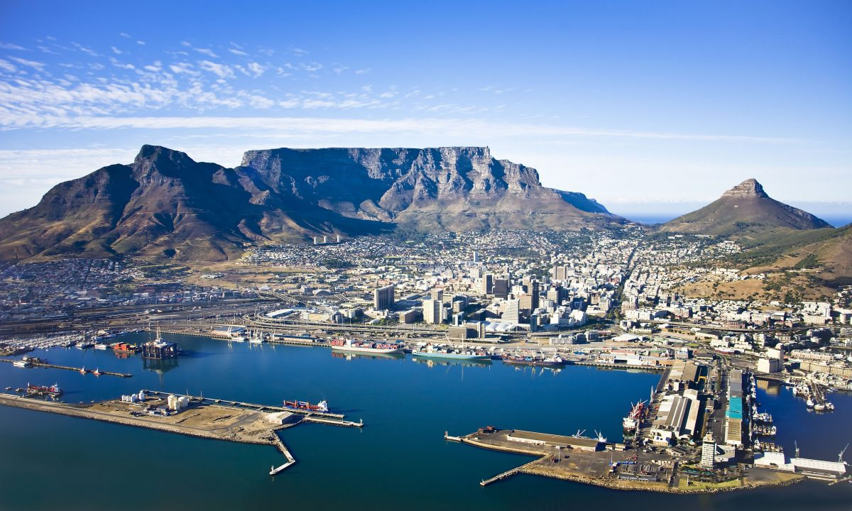 Table Mountain greets passengers in an imposing manner as cruise ships sail into Cape Town.