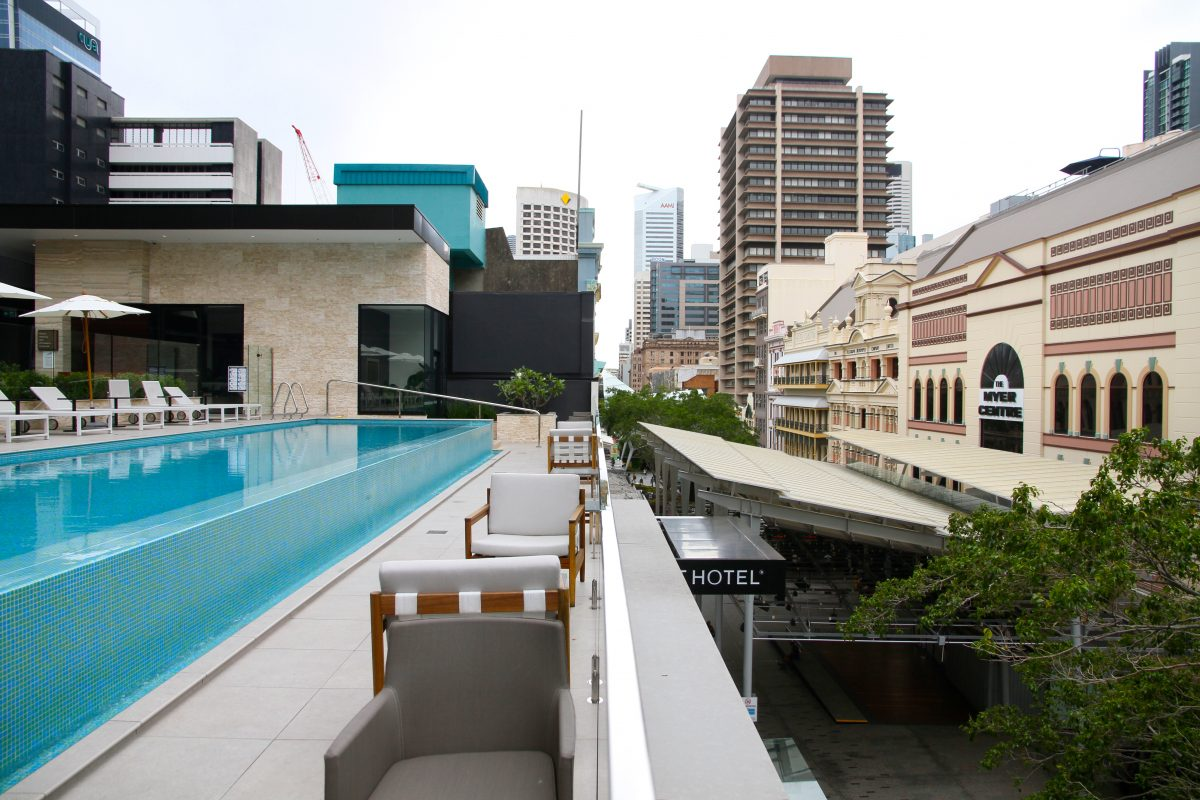 The Hotel Next - one of Brisbane's most stylish hotels overlooks Queen Street Mall.