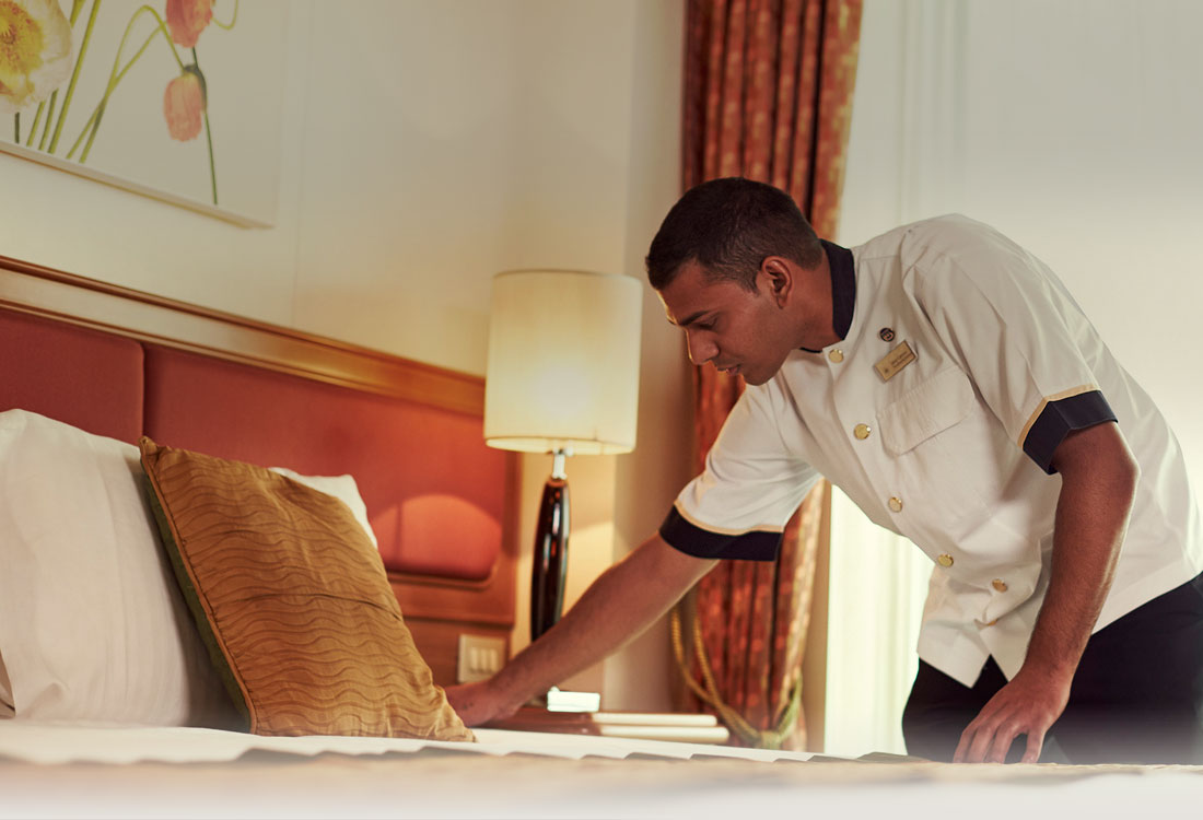 Getting your room cleaned each day is part of the amazing service worth tipping.