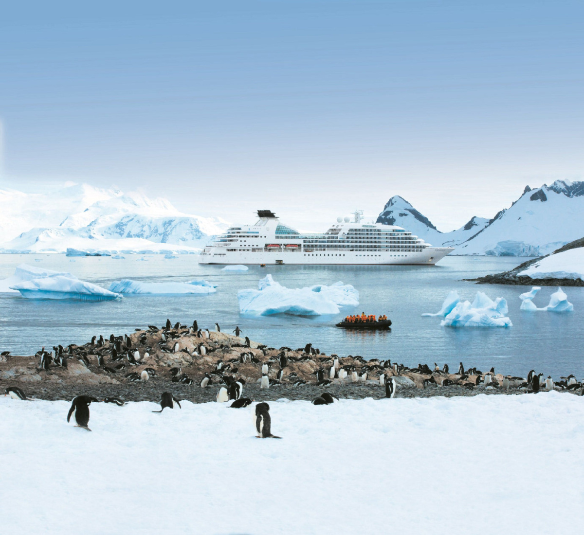 Seabourn Quest in Antarctica.