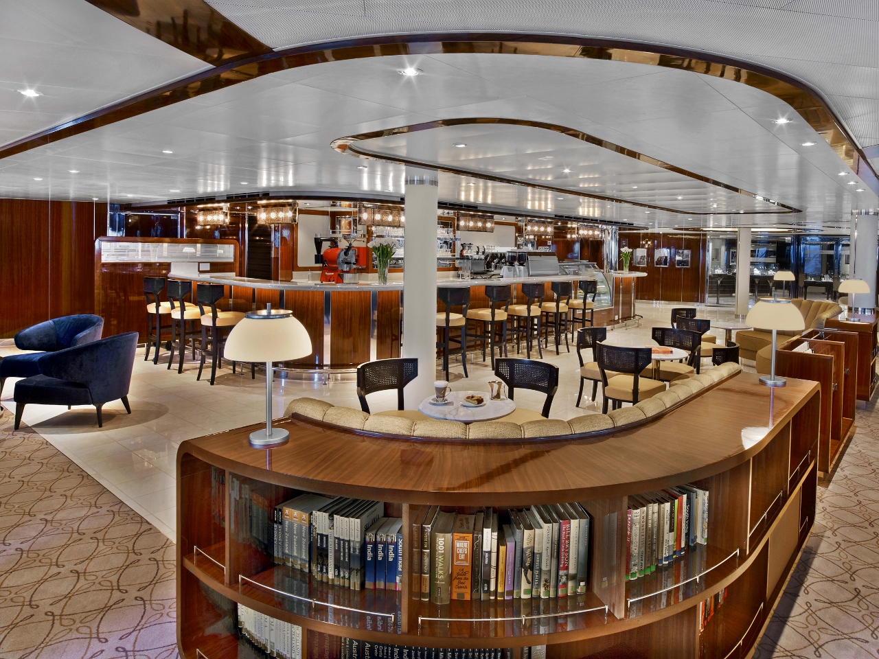 The new look Seabourn Square on Seabourn Encore.