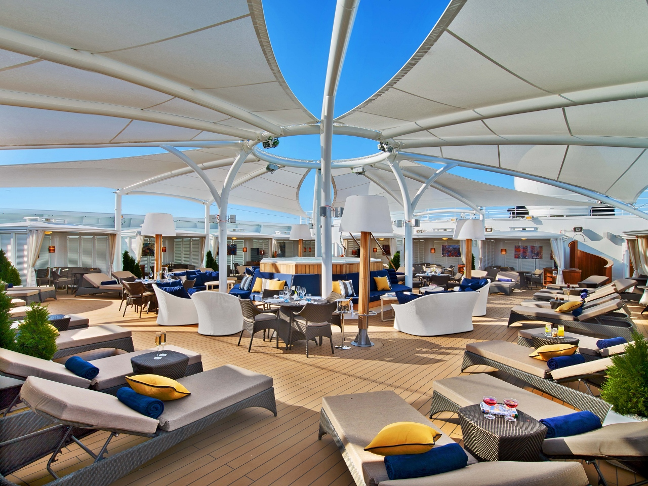 The Retreat on Seabourn Encore will be a haven of tranquility and relaxation.