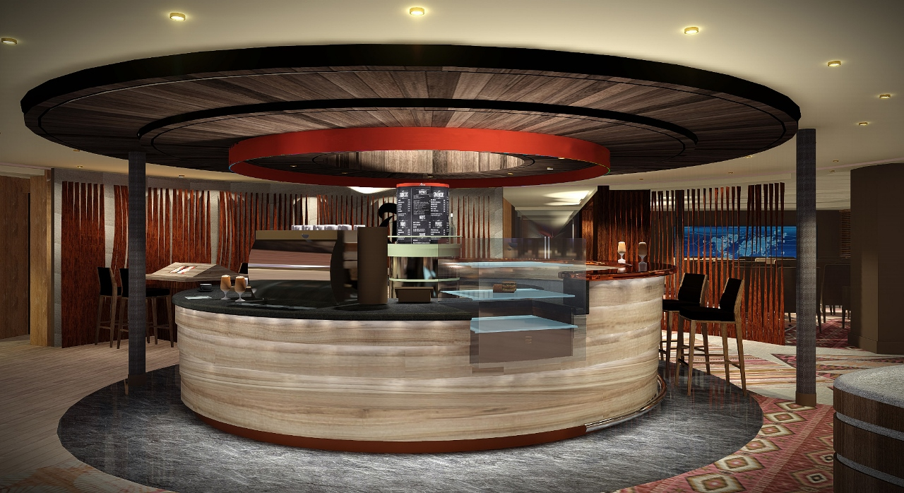 Coffees, snacks and refreshments will be available for guests to enjoy at Explorations Central on Holland America Line.