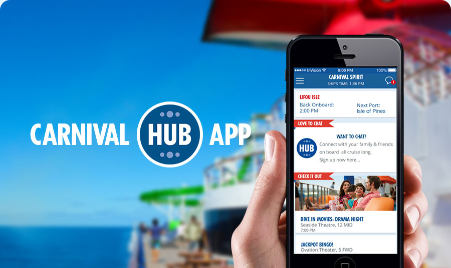 Carnival Cruise Line has rolled out its Carnival Hub app to its Australian ships.