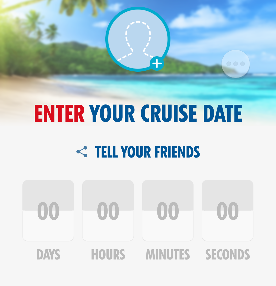 Enter the date your cruise sets sail and a funky countdown clock will be created, which you can share for bragging rights.