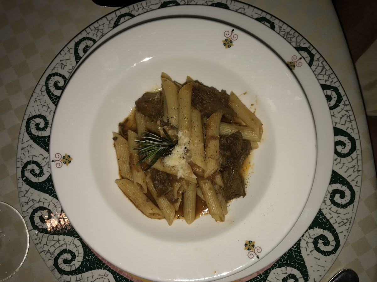 The Braised Short Rib Penne Pasta.