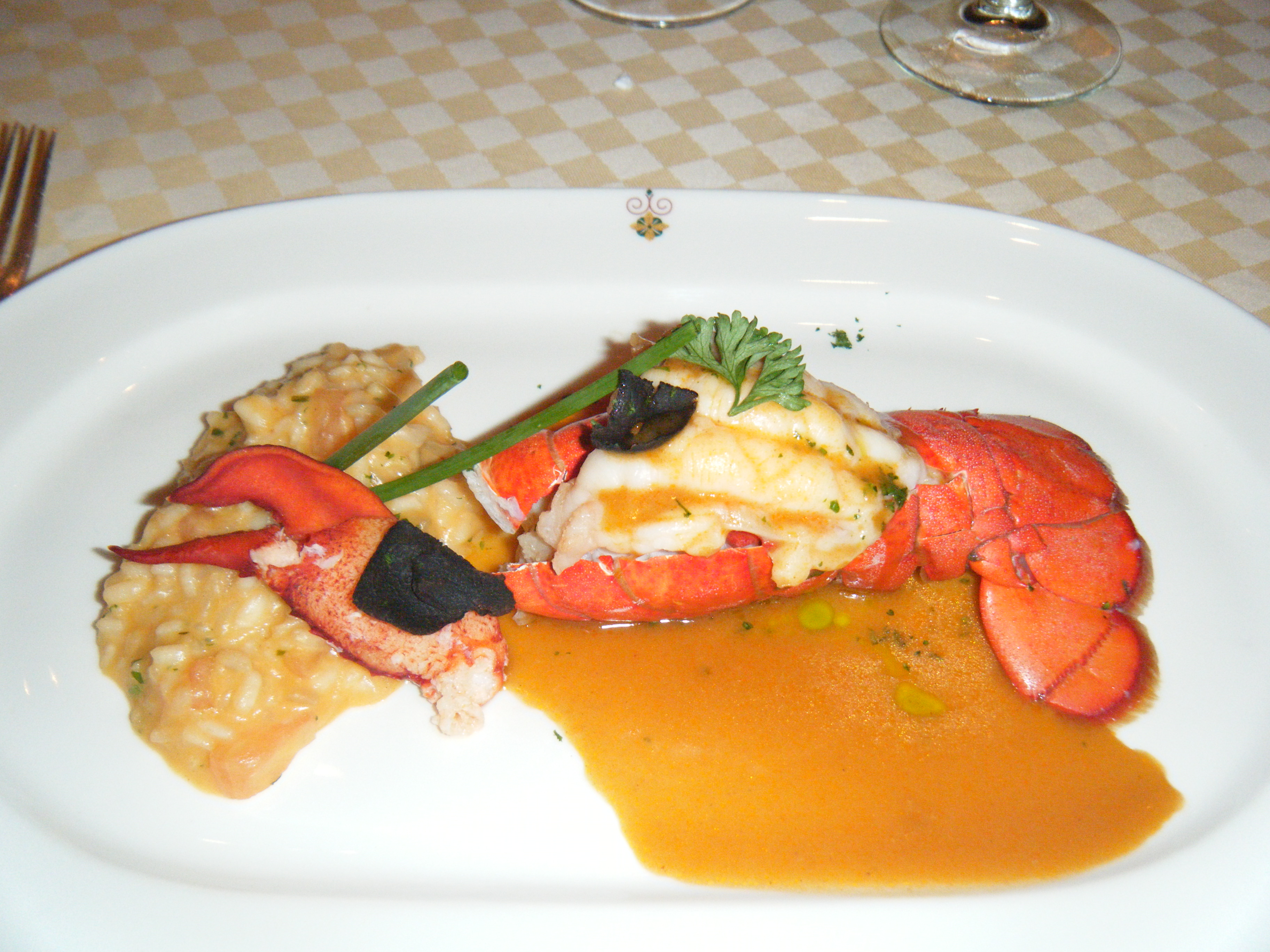 Sabatini's Lobster Three Ways was perfectly prepared and served.