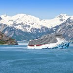 A rendering of the Norwegian Bliss in Alaska