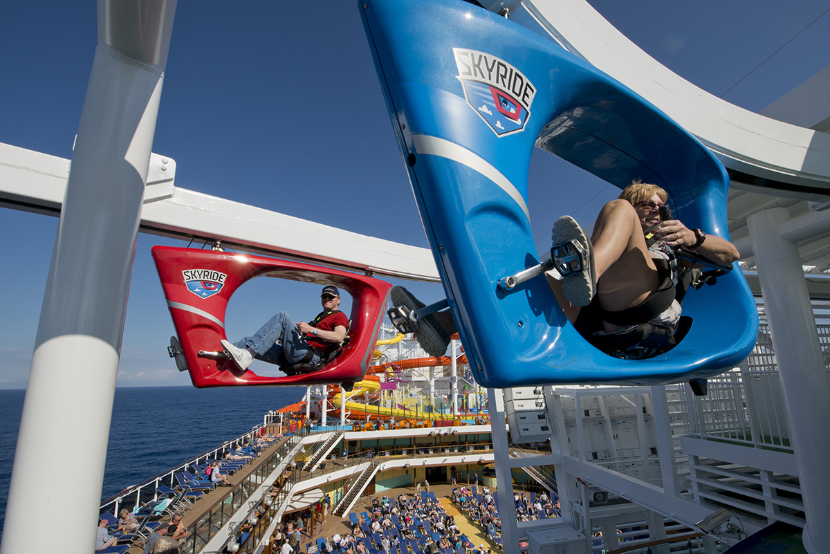 Guests enjoying SkyRide on Carnival Vista - a feature which will also appear on Carnival Horizon.