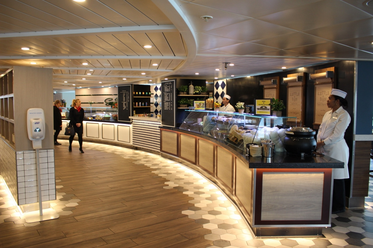 Very spacious, The Pantry has received widespread acclaim from P&O Cruises passengers.
