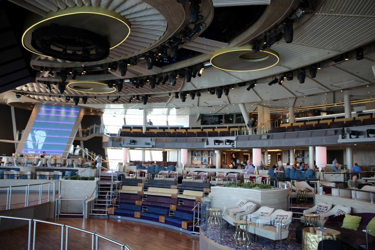 The Two70 Theatre on Ovation of the Seas is designed perfectly for the shows it presents.