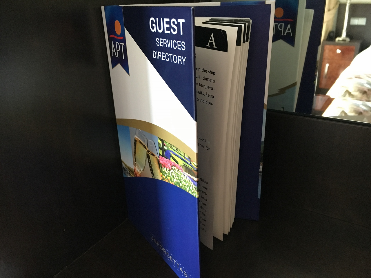 This compendium is in every room and will answer a lot of questions you may have about your cruise.