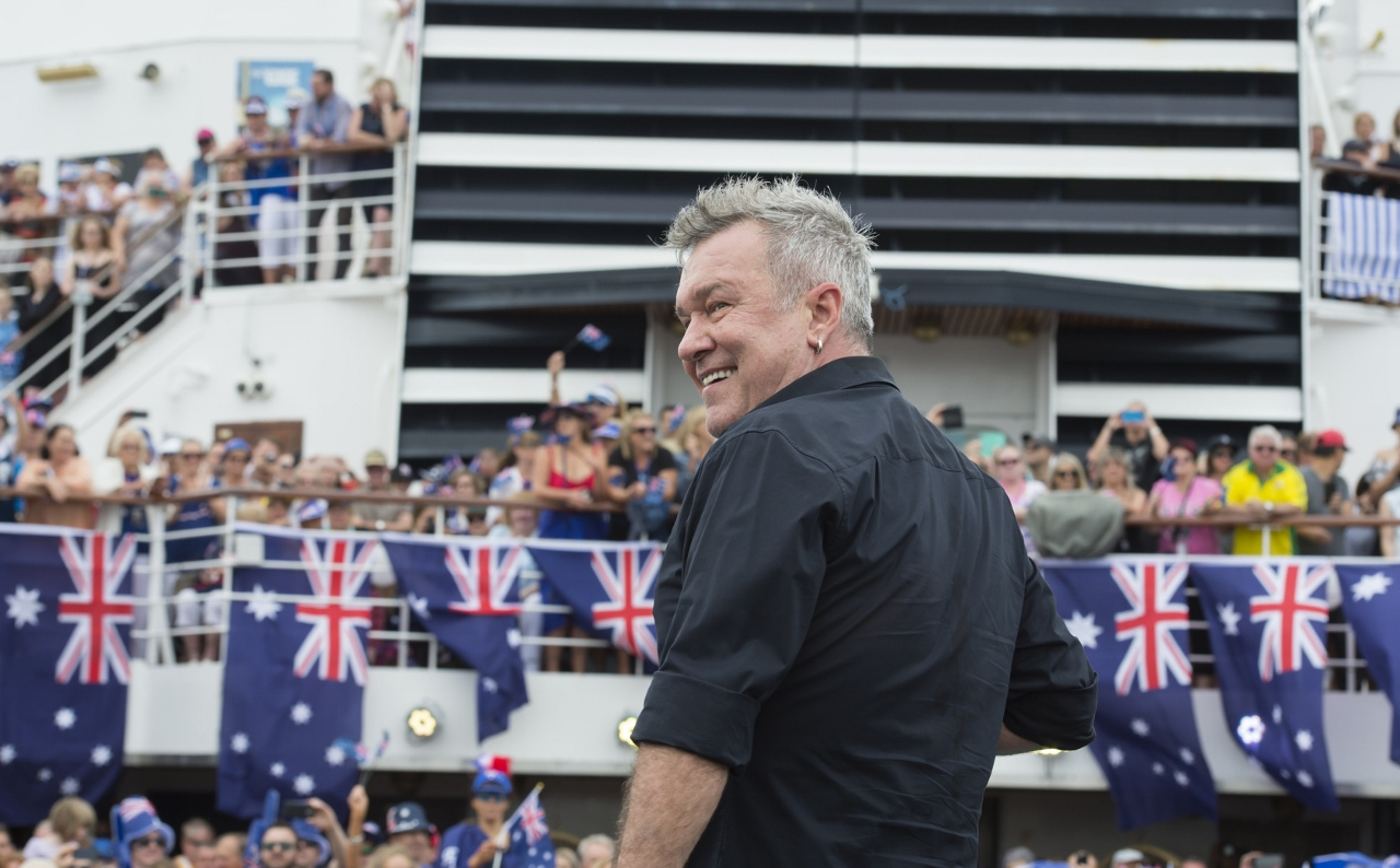 "Aussie rock icon Jimmy ""Barnesy"" Barnes performs for guests on P&O Cruises' Pacific Eden for Australia Day."