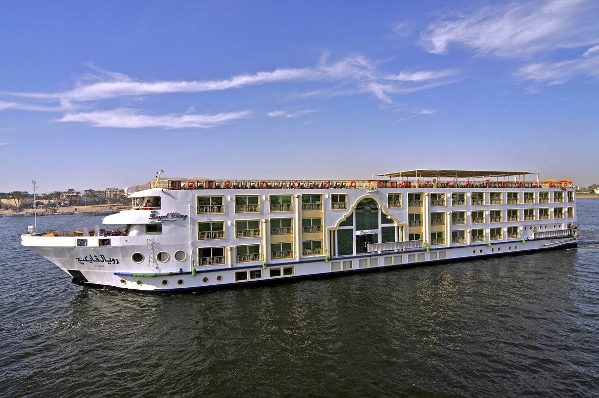 The Viking Princess cruising the Nile River in Egypt.