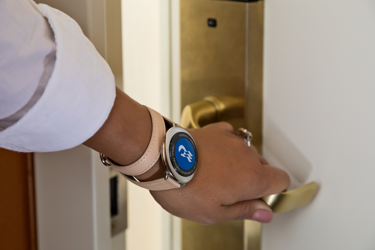 Your stateroom door will unlock as you approach wearing the Ocean Medallion.