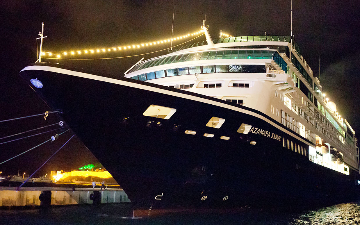 Almost half of all the port calls made by Azamara throughout the year see the ship in port until at least 8pm.
