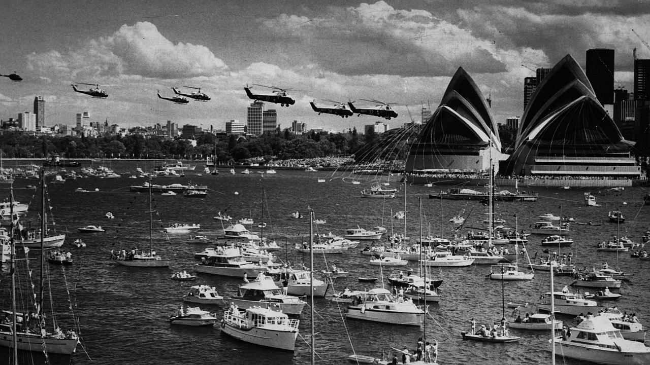 The opening of the Sydney Opera House in 1973 was nominated as an iconic moment in Australia's history.