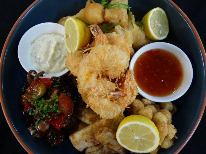 A sample of the offerings to be made available from P&O Cruises Shell & Bones Seafood & Grill.