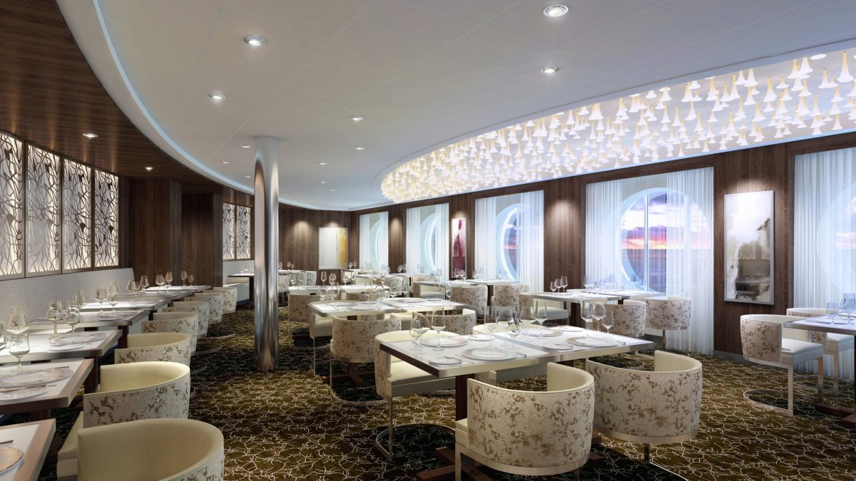 Luminae is a private restaurant open only to guests staying in suites on Celebrity Cruises.