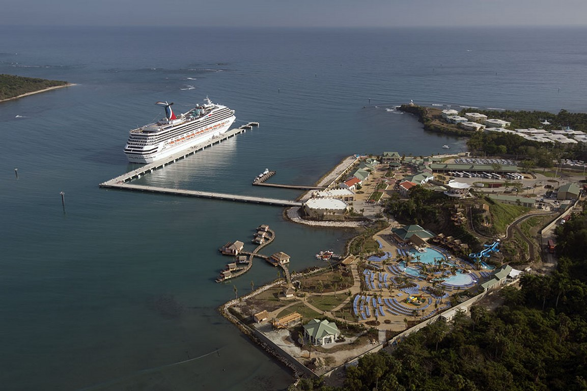 Carnival Victory pulls up to Amber Cove in the Dominican Republic.
