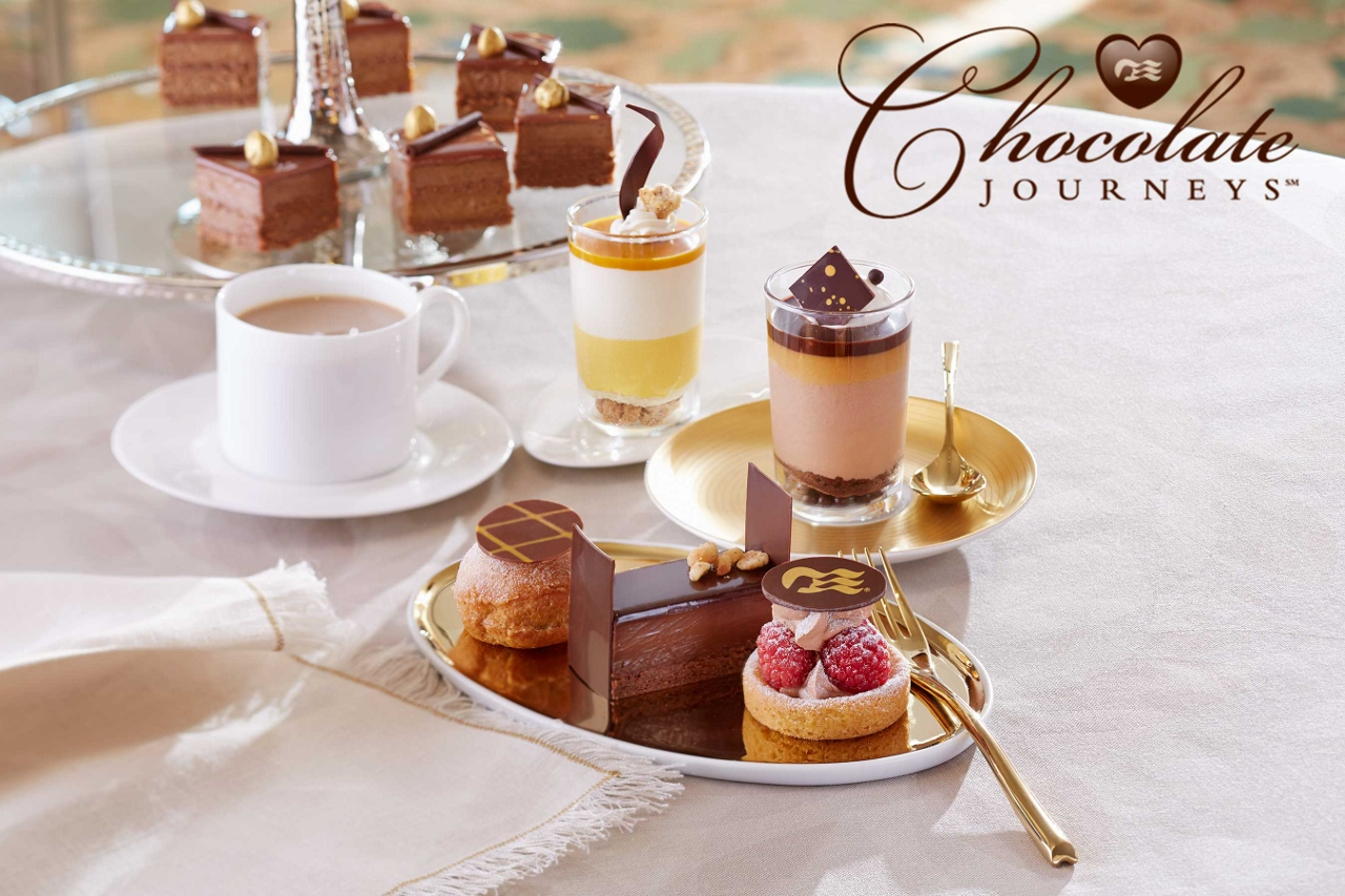 Whether it comes as a drink, a cake or a solid piece, chocolate abounds on Princess Cruises these days thanks to Chef Norman Love.