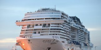 The final touches are being applied to MSC Meraviglia, with the ship due to enter service in May.