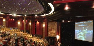 Many Cunard voyages feature guest speakers, who host lectures inside one of the ship's theatres.