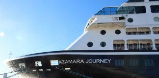 Azamara Journey docked in Sydney