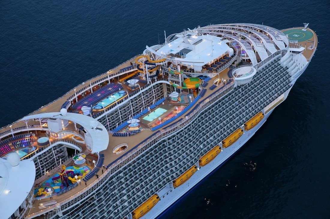 Symphony of the Seas isn't yet finished but will be a sister ship to Harmony of the Seas, launched last year.