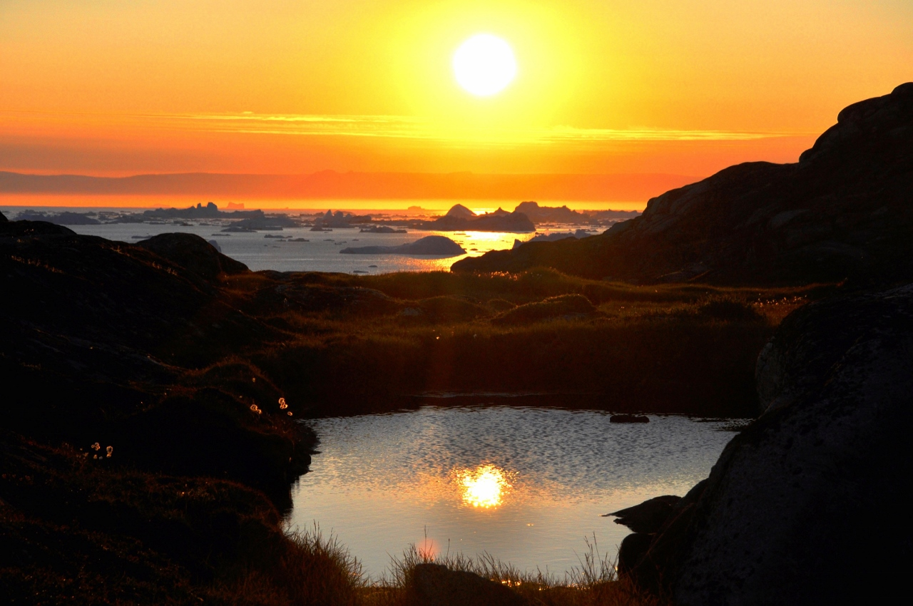 The Midnight Sun in the far north is one of the marvels of the natural world during the northern summer.